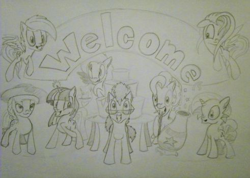 Welcome party! by Drawing-elite-9