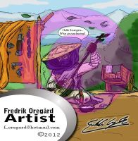 The travelling salesman by Oregard