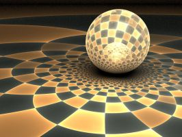 Golden Disco Ball by Shortgreenpigg