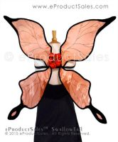 METALLIC GOLD Orange SwallowTail Fairy Wings by eProductSales