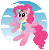 MLP: Pinkie Pie the Wonderbolt Cadet by giantsquidie