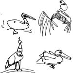 Bird Gestures 2 by littlemisshurricane