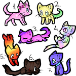 Cat Adoptables ^^ by BigSushiCat