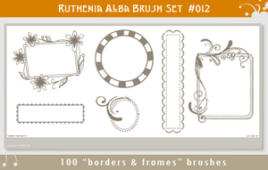 Brushset 12: Border'n'Frames by Ruthenia-Alba