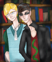 GO: Crowley and Aziraphale by AlsTheMighty