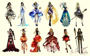 The Twelve Olympians by chiaroscuro8