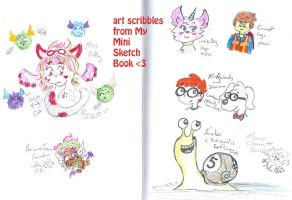 Art Scribbles form my mini sketch book by Kittychan2005