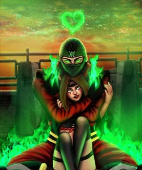 Araceli and Ermac request by Annas-2Art2