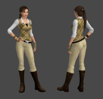 Lara Croft Classical Outfit by spuros12 by spuros12