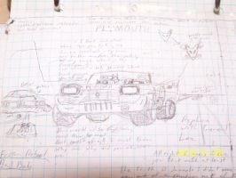 Auto sketches Mad Wacko Plymth by coonk9