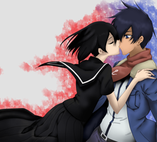Kurome and Wave Akame Ga Kill by thatguyjohn