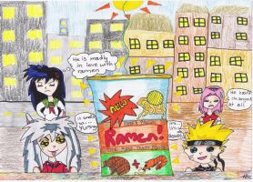 Naruto and InuYasha see Ramen by 1Taurus1Demon1