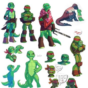 TMNT Irrilia Sketches by WinterHeath