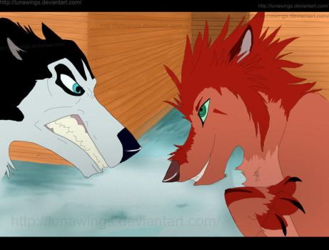 Steele meets Axel by lunawings