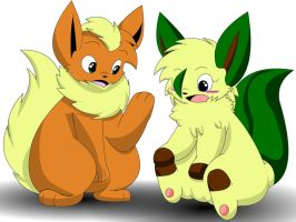 Shou The Flareon And Rue The Leafeon Body Swapped by Zander-The-Artist