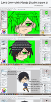 Coloring in Manga Studio 5 (part 2) by Azedarach