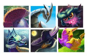 Pokemon Interpretations 2 by Ammonite-Amy