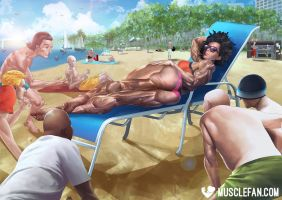 Female Muscle Beach Bod by female-muscle-comics