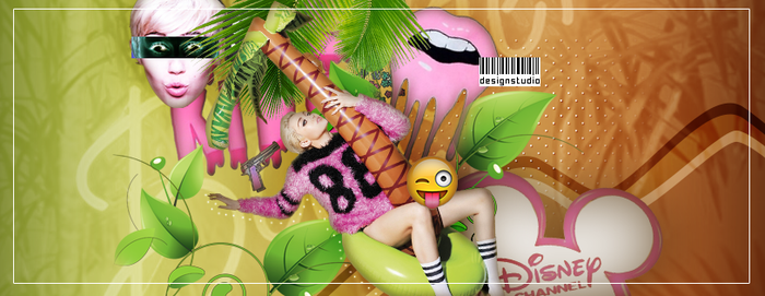 Miley Cyrus FB Cover by 17studio