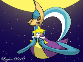 The Moon Goddess and Star Child by RPD490