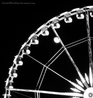 Moonrise over Parisian Ferris Wheel by PinchOfPixelDust