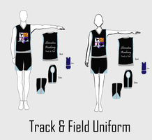 S.A.I.L. - Sport Uniform Line-up - Track and Field by VioletZen