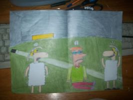 Sheep,his other side and The Narrator by onlycartoons
