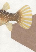ATC fish tail collage by crazyruthie
