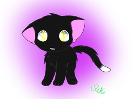 Ravenpaw Chibi by Kurai-Phantom
