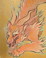 fire lion thing by missmonster