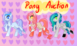 100 WATCHERS! - 3 Pony Auction  [CLOSED] by Ilovepones
