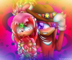 .:Kathy and Knuckles:. by Kathy-the-echidna