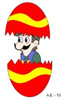 Weegee in a easter egg by ZigZag123