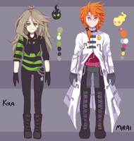 Mirai And Kira sketchy reference UPDATED by Fivey