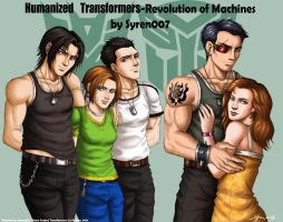 Humanized Transformers-characters by syren007