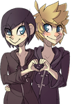 Daily Drawing- 18?- Xion and Roxas by Hofftitts