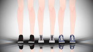 MMD Nike High Top DL by AuroraYok