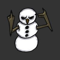 Angry Snowman 02 by veraukoion