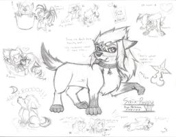 Saix Puppy - rough sketch by SharpAnimationInc