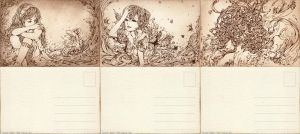 Hand Drawn Postcards by shirua