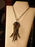 Squirrel Paw necklace by kittykat01