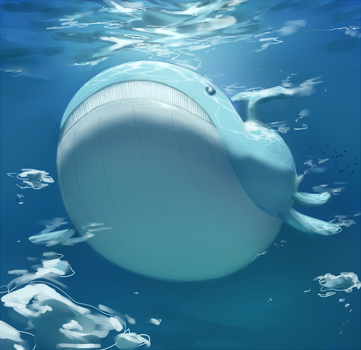 Wailord (collab) by PinkGermy