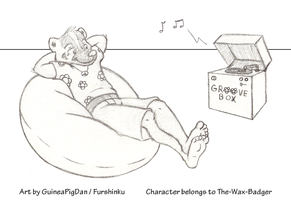 Wax-Badger listens to some tunes by GuineaPigDan