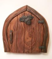 Oak and Acorn Fairy Door by FlyingFrogCreations