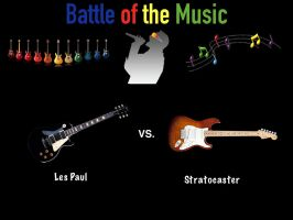 Battle of the Music:  Les Paul vs. Stratocaster by videogameaddict237