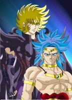 Radamanthys and Broly by yoliwyvern