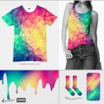 Modern Polygon Acid Test @threadless(Psychedelic) by mrsbadbugs