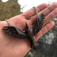 Done with the raven pendant! by JonasOlsenWoodcraft