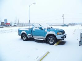 My Truck in the snow by runninglane