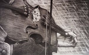 Violin sketch by AlexndraMirica